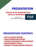 MRT3 Train Operation Report