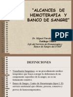 76063427 Alcances de Hemoterapia y Banco de Sangre 1