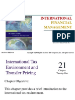 INTERNATIONAL TAX ENVIRONMENT