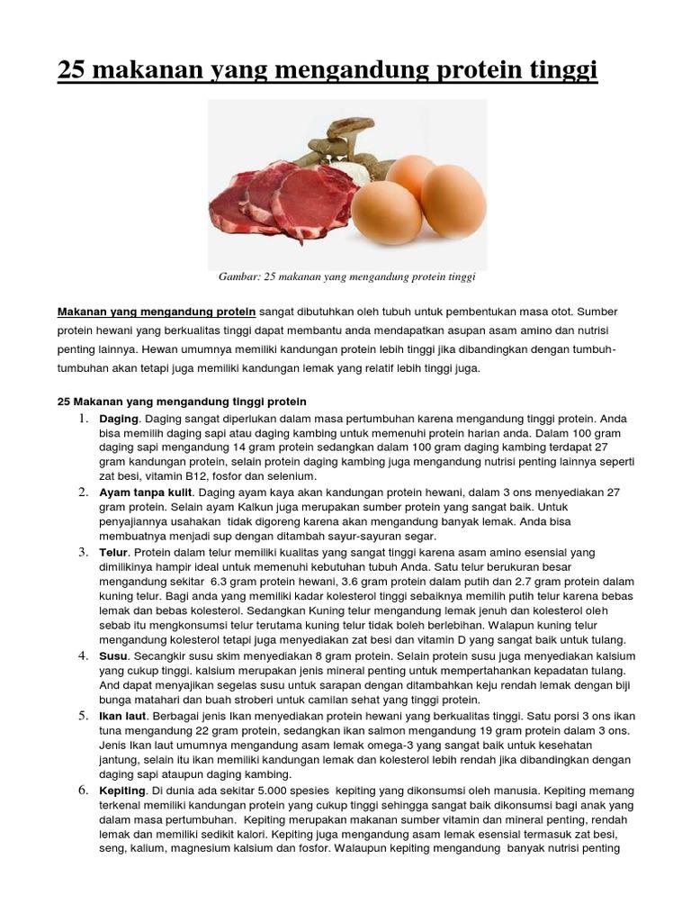 25 Makanan Yang Mengandung Protein Tinggi