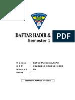 Cover Daftar Hadir Dan Nilai 2014-Cetak 1