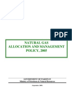 NATURAL GAS Allocation and Managmnt Policy 2005