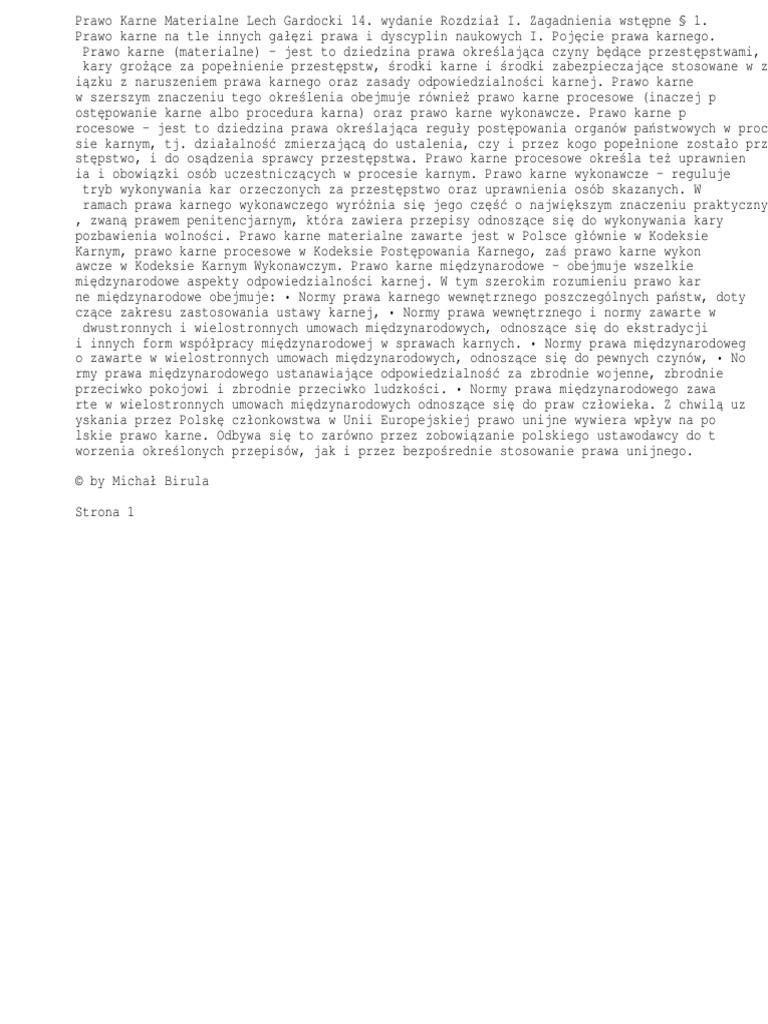 prawo karne lech gardocki pdf chomikuj