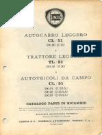 Autocarro Leggero CL 51 - Catalogo Parti Di Ricambio