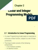 Linear Integer Programming Models