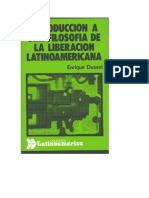 Introducción a una Filosofía de la Liberación Latinoamericana de Enrique Dussel