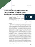 Antifeeding Activity of Several Plant Extracts Against Lymantria Dispar Larvae (2012)