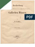Beschreibung der in der Schweiz aufgefundenen gallischen Münzen / von H. Meyer