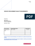 1041 E, Specific Procurement Quality Req.