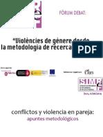 """""""Conflictos y violencia en pareja"""