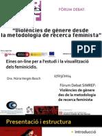 """""""Herramientas on-line para el estudio y la visualización de los feminicidios."""""""