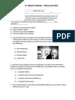 Prova 2ºbimestre Arte 1ºanoensinomedio e e Renato Braga 2014 Cris