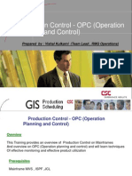 OPC Training Agenda
