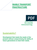 SUSTAINABLE TRANSPORT INFRASTRUCTURE