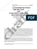 THE RELATIONSHIP BETWEEN THE SSE-CMM AND IT SECURITY GUIDANCE DOCUMENTATION