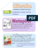 literary devices poetry posters