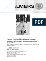 Lateral Torsional Buckling of I-beams