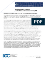 Statement of ICC BASIS on Improvements to the Internet Governance Forum (IGF)