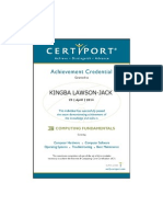 Kingba - Computing Fundamentals Achievement Credential