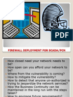 Firewall Deployment for SCADA-PCN