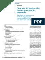 Prävention Der Nosokomialen Beatmungsassoziierten Lungenentzündungen