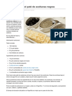 Cocinasalud.com-Cmo Preparar El Pat de Aceitunas Negras