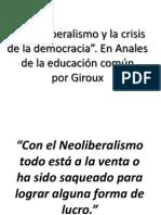 Decunstruyendo El Neoliberalismo