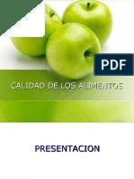 Calidad de Los Alimentos- Manzana