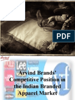 Arvind Brands' Competitive Position !!
