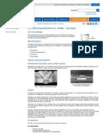 Imperfections in Welds - Porosity