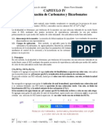 Capitulo IV Determinacion de Carbonatos y Bicarbonatos