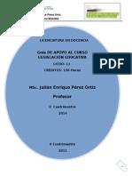 Antología Legislación Educativa 2014