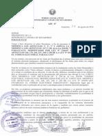 Proyecto de Desbloqueo Presentado Por Blás Llano 28-08-2014