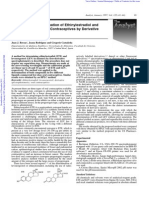 Simultaneous Determination of Ethinylestradiol and Levonorgestrel in Oral Contraceptives by Derivate Spectrophotometry
