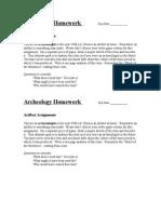 archeology homework 1