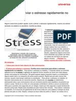 5 Dicas Aliviar Estresse Rapidamente No Trabalho