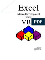 Excel Macro Developmnet VBA