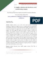 AHP Evaluation