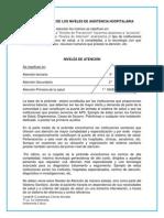 Clasificación de Los Niveles de Asistencia Hospitalaria