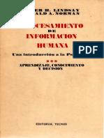 Lindsay-Norman 1972 Procesamiento de Información Humana III. Aprendizaje, Conocimiento y Decisión.pdf
