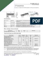 TX-SAW / 433 s-Z Transmitter Datasheet