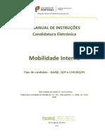 Manual de Instruções Da Candidatura Eletrónica Para o Concurso Da Mobilidade Interna