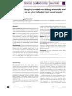 Omorarea Bacteriilor Printr-o Serie de Materiale de Obturatie a Radacinii Si Metode de Obturare Radiculara Pe Un Canal Radicular Infectat Ex Vivo. Varianta Engleza