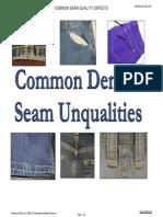 Common Denim Seam Quality Defects