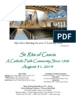 St. Rita Parish Bulletin 8/31/2014