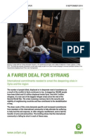 A Fairer Deal for Syrians: International commitments needed to arrest the deepening crisis in Syria and the region