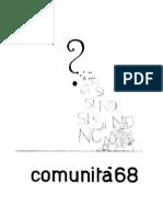 1968 11 Comunità 68
