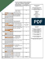 2014-2015 parent calendar