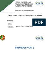 Organizacion y Arquitectura Del Computador