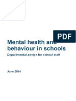 Mental Health and Behaviour in Schools - DFE Advice (2014)